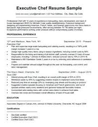 Chef Cover Letter Sample Executive A Resume Download Personal