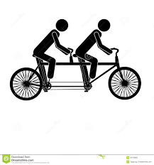 Tandem Bicycle Clipart Love Birds Wedding Invitation