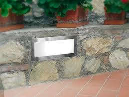 recessed wall light fixture fluorescent rectangular brick