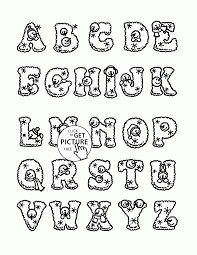 Free Coloring Pages Alphabet Letters New Color