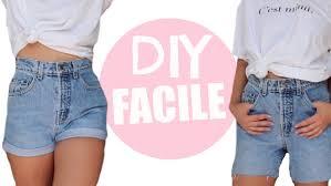 couper un jean en short astuce friperie diy facile youtube