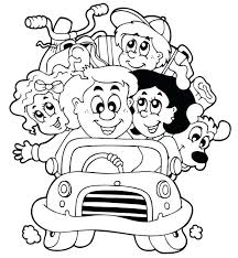 Full Image For Family Road Trip Coloring Page Printable Pages Alvin And The