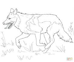 Free Printable Wolf Coloring Sheets Pages For Adults Running Grey Page