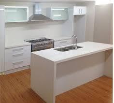 Brand New Galley Kitchen With Island