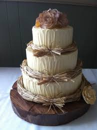 Bunch Ideas Of Rustic Wedding Cake On Caramel Mud Chocolate