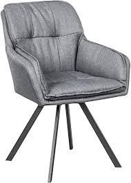 invicta interior drehbarer design stuhl mr lounger grau mit armlehne sessel esszimmerstuhl drehbar