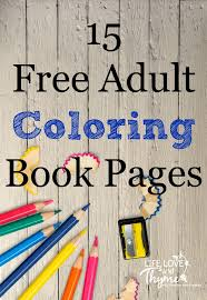 15 Free Adult Coloring Book Pages