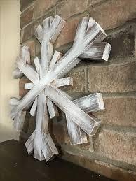 Large Wooden Snowflake