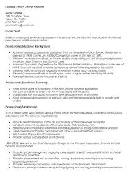 Sample Police Officer Resume For With No Experience Parole Experienced