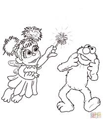 Elmo Coloring Page Ab Cadab And Free Printable Pages Picture