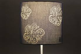 Laser Cut Lamp Kit by Engraving A Fabric Lamp Shade