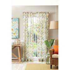 Orange Sheer Curtains Walmart by Better Homes And Gardens Tropical Sheer Floral Panel Walmart Com