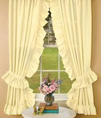 stephanie country ruffle priscilla curtains pair 86 inch by 84