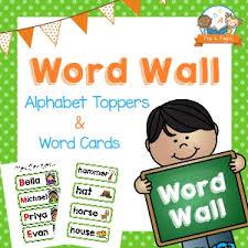 Printable Word Wall Kit For Preschool With Green Polka Dots