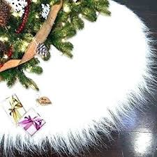 Plush White Fur Tree Skirt Inch Skirts Faux Luxury Inspiration Cable Knit