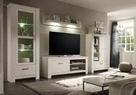 anbauwand toskana landhausstil weiß modern wohnzimmer