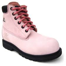Womens Work And Safety Shoes by Moxie Trades Betsy Xtreme Pink Safety Boots