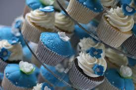 Royal Blue Cupcake Wedding Cake