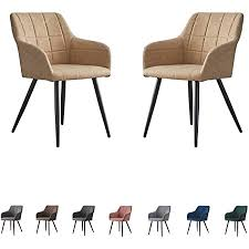 shinawood esszimmerstühle 2er set beige modern sessel