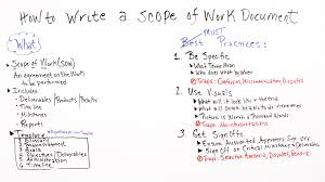 In Review How To Write A Scope Of Work Document