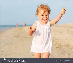 children girl running beach stock image i3336295