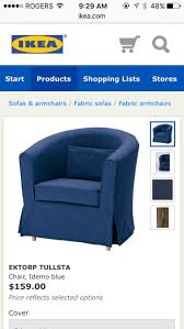 Ikea Chair Covers Tullsta by Best Ikea Ektorp Tullsta With Idemo Blue Cover For Sale