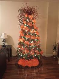 My Christmas Tree Decoration Burnt Orange And Brown Color Theme Ideas