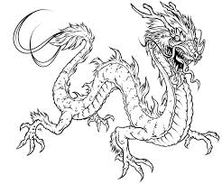 7 493 Realistic Fire Dragon Coloring Pages Breathing