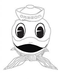 Printable Duck Coloring Pages For Kids In The Water Oregon Ducks Mascot