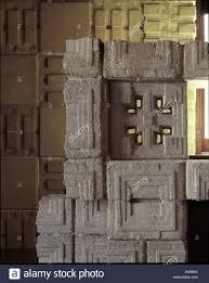 100 Frank Lloyd Wright Textile Block Houses Storer House Los Angeles California 1923 Detail Of