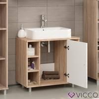 waschtischunterschrank fynn eiche sonoma badschrank waschbecken unterschrank badmöbel