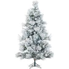 75 Slim Flocked Christmas Tree by Whites Pre Lit Christmas Trees Artificial Christmas Trees
