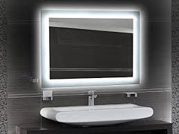 badezimmerspiegel mit beleuchtung led spiegel 50x40 cm badspiegel mit licht design spiegel für bad und gäste wc hinterleuchtet beleuchteter