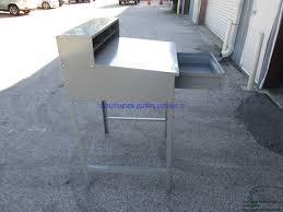 Tennsco Steel Storage Cabinets by Tennsco Tnnsr57mg Open Gray Steel Cabinet Desk Shop Metal Bench
