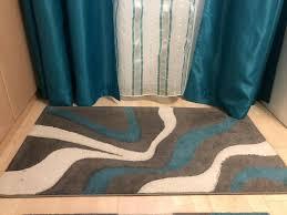 teppich 2x läufer passende gardinen vorhänge türkis weiß
