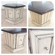 Vintage End Table With Lamp Attached by Octagon End Table Refinished In Rethunk Junk Paint French Vanilla