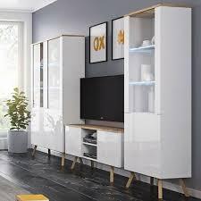 wohnzimmer set lima iv skandinavischer stil wohnwand