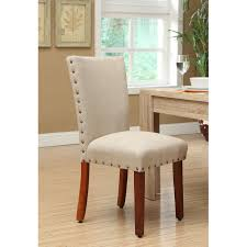 Parson Chair Slipcovers Amazon by Amazon Com Roundhill Furniture Elliya Sandy Fabric With Nailheads