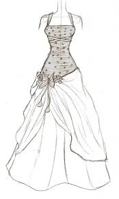 How To Draw A Beautiful Dress Designer Fantasy Sketches Kim Kardashian39s Wedding Gown