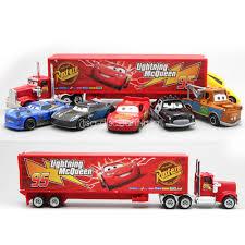 7pcs/Set Cars 2 Lightning McQueen Racer Car&Mack Truck Kids Toy ...