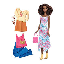 Barbie Fashionista AfricanAmerican Doll Tall 2 Outfits In 2019