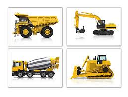 100 Construction Trucks Wall Art