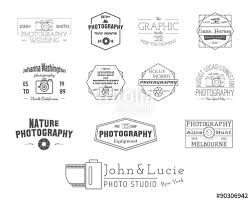 Photography Badges And Labels In Vintage Style Simple Line Design Retro Theme For Photo
