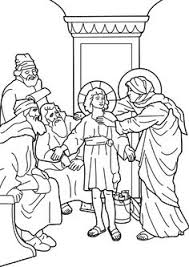 The Boy Jesus In Temple Catholic Coloring Page
