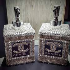 Paris Themed Bathroom Accessories by Chanel Liquid Soap And Lotion Dispensor Bebe U0027 A Little Bling