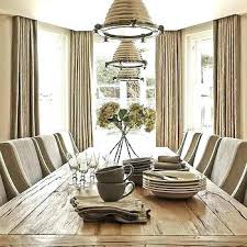 Dining Room Window Curtains Taupe With Bay Formal