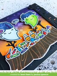 Top Halloween Candy 2017 by The Lawn Fawn Blog Jessica U0027s Spooky Forest Halloween Card