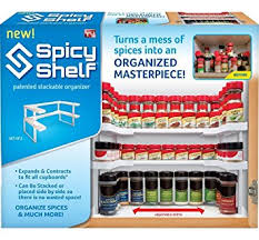 Amazon Spicy Shelf Spice Rack and Stackable Organizer Home