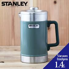Stanley Vacuum French Press 14L STANLEY 14 Liters Stainless Steel Bottle Thermal Insulation Cold Storage Thermos Coffee Maker Tea Leaves Pot Camping