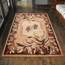teppich wohnzimmer klassisch blumen beige design läufer